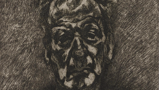 Lucian Freud artist, Self-Portrait: Reflection , 1996, Phillips London Auction House