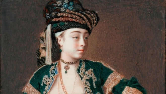 Liotard Royal Academy Review: Jean-Etienne Liotard artist, Laura Tarsi, c. 1740 Cambridge, Fitzwilliam Museum Photo c. Fitzwilliam Museum, Cambridge, Royal Academy London