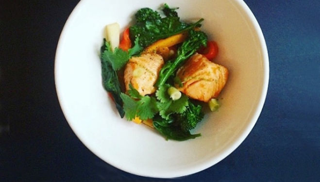Stephanie Achar Recipe: Salmon Teriyaki & Stir Fry Vegetables