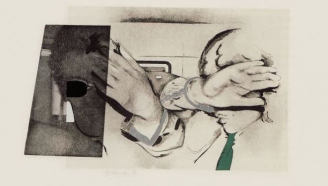 London Original Print Fair 2016 Richard Hamilton Swingeing London 67 (f) 1968–9 © The estate of Richard Hamilton License this image