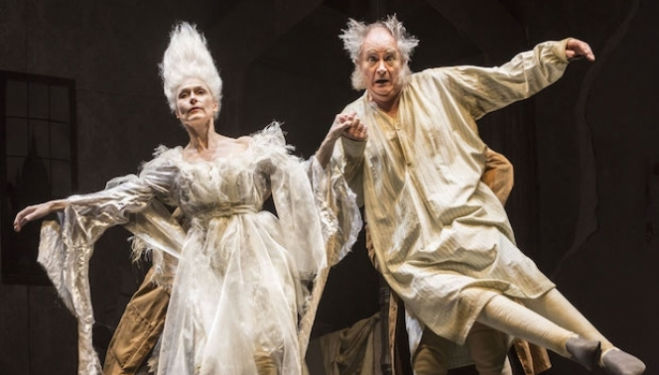 Amelia Bullmore and Jim Broadbent: Christmas Carol, photo by Johan Persson