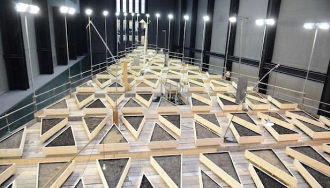 Turbine Hall Tate Modern Installation 2015: Abraham Cruzvillegas - Empty Lot
