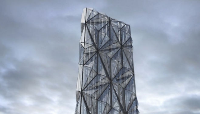 Optical Cloak System: Conrad Shawcross, Greenwich Peninsula