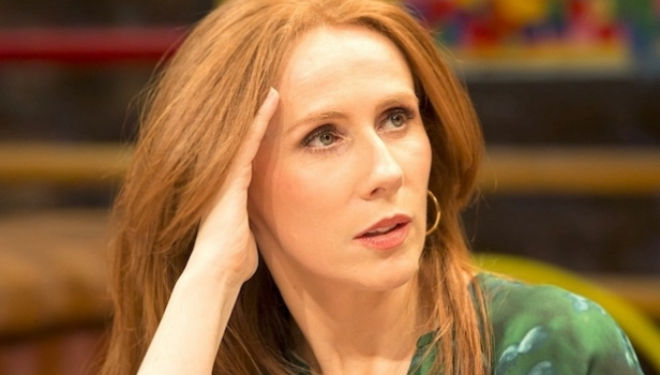 Catherine Tate performing in The Vote at the Donmar Warehouse; photo by Johan Persson