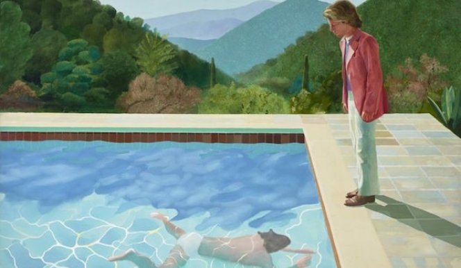 Tate Hockney: Portrait of an Artist (Pool with two figures), 1972 acrylic on canvas, 84x120 in. Tate Britain Hockney