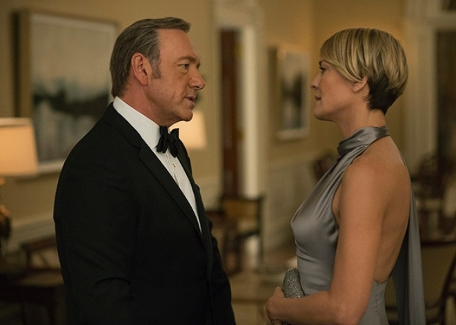 Kevin Spacey & Robin Wright, House of Cards Season 4