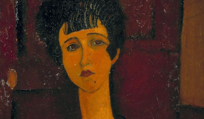 Detail: Modigliani, Portrait of a Girl, c.1917 © Tate Modern, Tate Modigliani Show 2017 Modigliani London