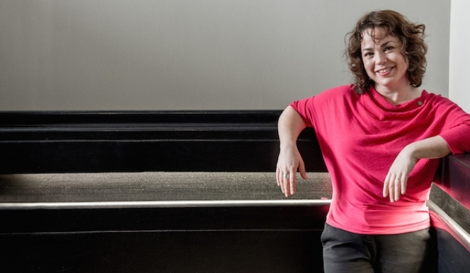 Pianist Katya Apekisheva dreamed up the London Piano Festival with Charles Owen. Photograph: Sim Canetty-Clarke