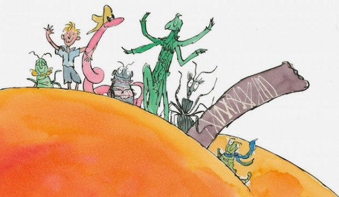 Quentin Blake, James and the Giant Peach