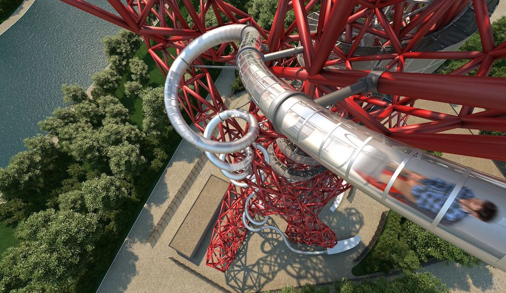 The return of Carsten Holler: Slide down the Olympic Park sculpture