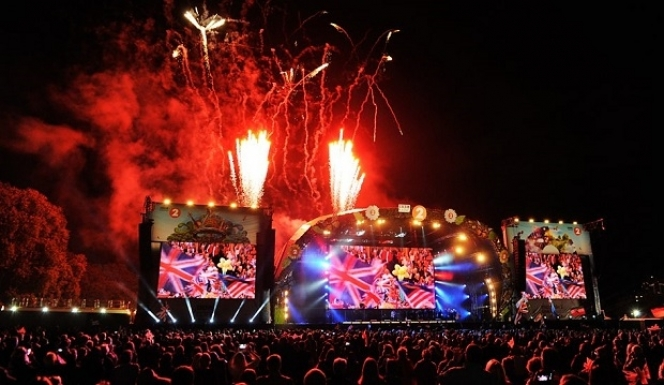 England's green and pleasant land: Proms in the park, image courtesy BBC