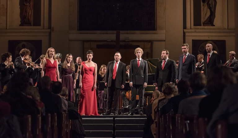 Solomon's Knot closes Spitalfields Winter Festival with Bach, on 11 December. Photograph: James Berry