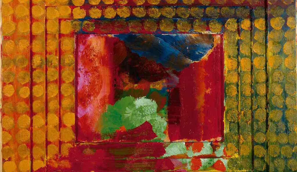 Detail from Portrait of the artist, by Howard Hodgkin. Photograph: PA