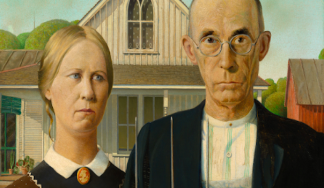 Grant Wood, American Gothic, 1930, Royal Academy