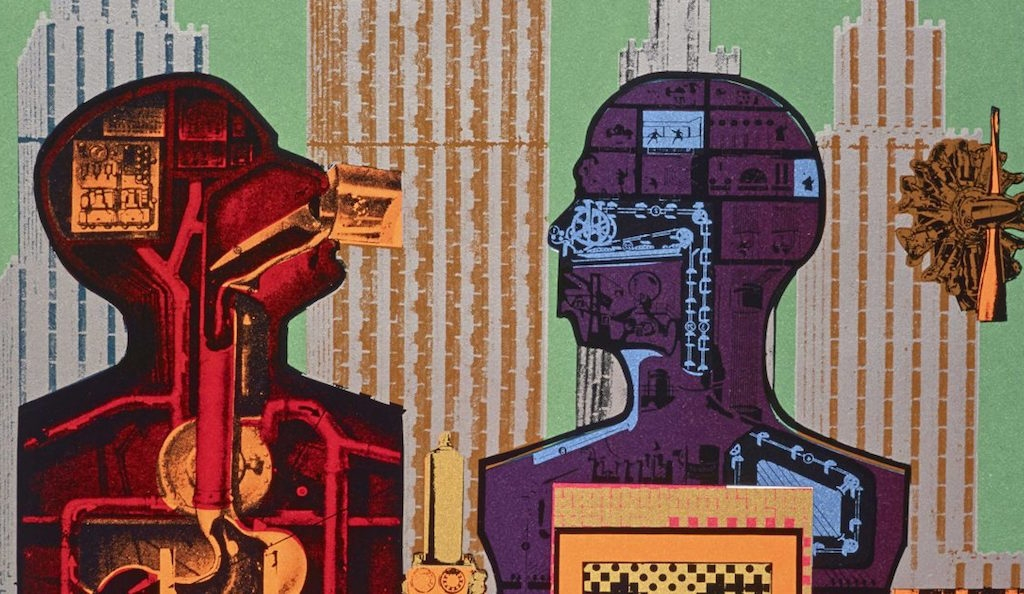 Eduardo Paolozzi, Wittgenstein in New York (from the series As is When), 1965 (detail) Courtesy Scottish National Gallery of Modern Art: GMA 4366 K © Trustees of the Paolozzi Foundation, licensed by DACS