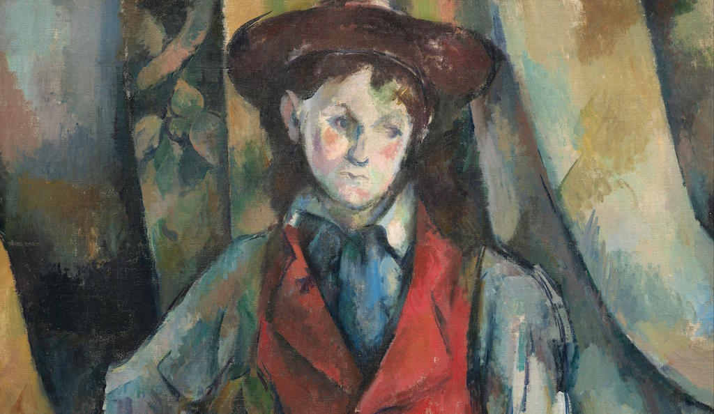 Boy in a Red Waistcoat, 1888-90by Paul Cézanne. National Gallery of Art, Washington.Collection of Mr. and Mrs.