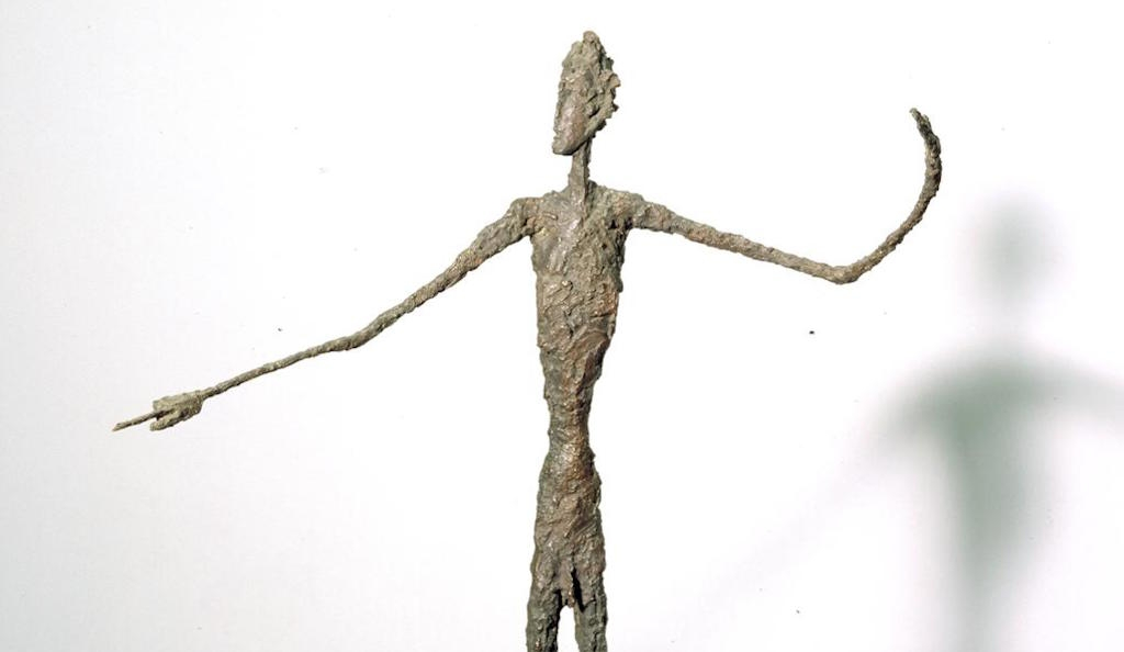 Detail: Alberto Giacometti, Man Pointing 1947, Tate. © The Estate of Alberto Giacometti (Fondation Giacometti, Paris and ADAGP, Paris), licensed in the UK by ACS and DACS, London 2016