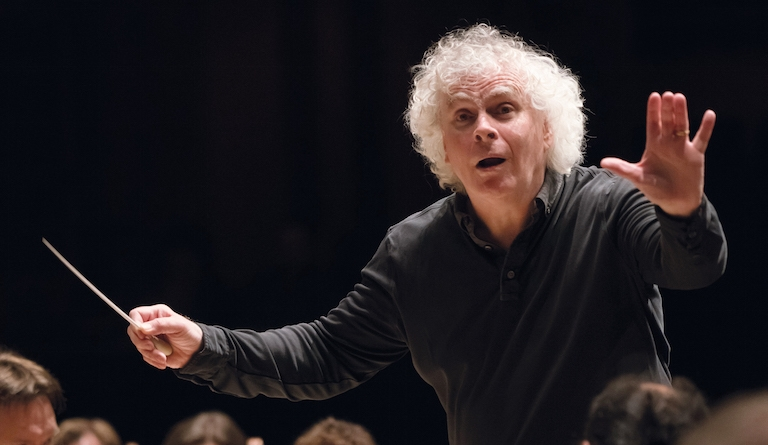 Champion of British music: Sir Simon Rattle, new music director of London Symphony Orchestra. Photograph: Hugo Glendinning
