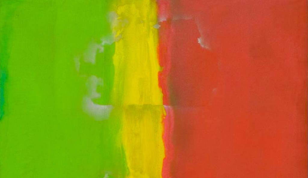 Detail: Frank Bowling, Who's Afraid of Barney Newman 1968, Tate. © Frank Bowling, Black Power exhibition