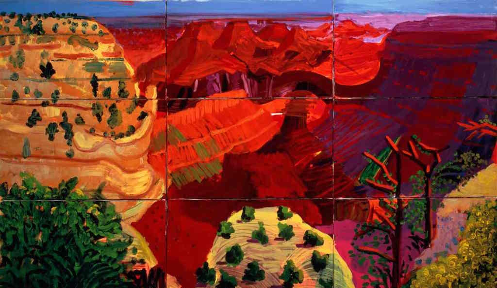 Hockney's 9 Canvas Study of the Grand Canyon, 1998. Photograph: Richard Schmidt/Tate