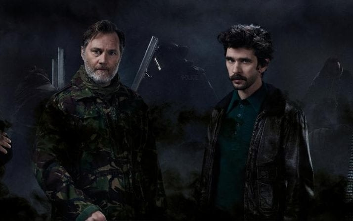 David Morrissey and Ben Whishaw star in a new production of Julius Ceasar at London's Bridge Theatre