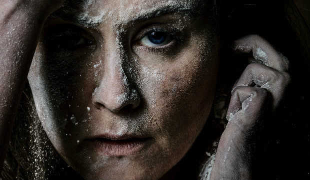 Judith Roddy in Knives in Hens at The Donmar Warehouse, Photo Daniel Ken