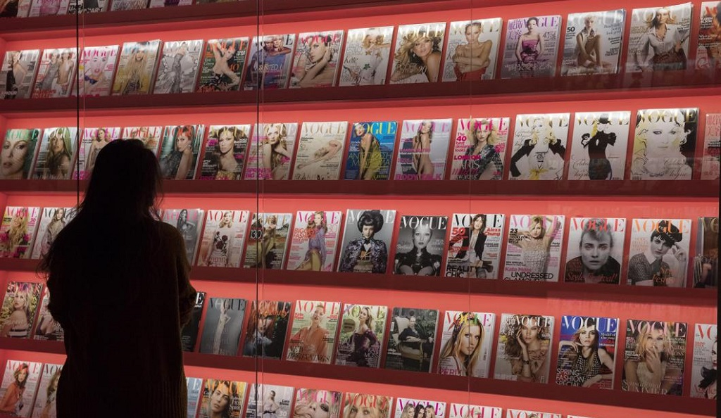 Vogue covers on display at Somerset House for Hair by Sam McKnight