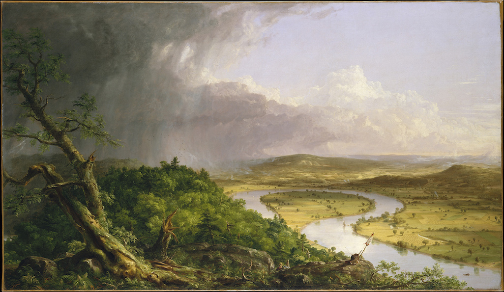 X9822 Thomas Cole View from Mount Holyoke, Massachusetts, after a Thunderstorm - The Oxbow, 1836 Oil on canvas 130.8 x 193 cm The Metropolitan Museum of Art, New York, Gift of Mrs Russell Sage (08.228) © The Metropolitan Museum of Art, New York