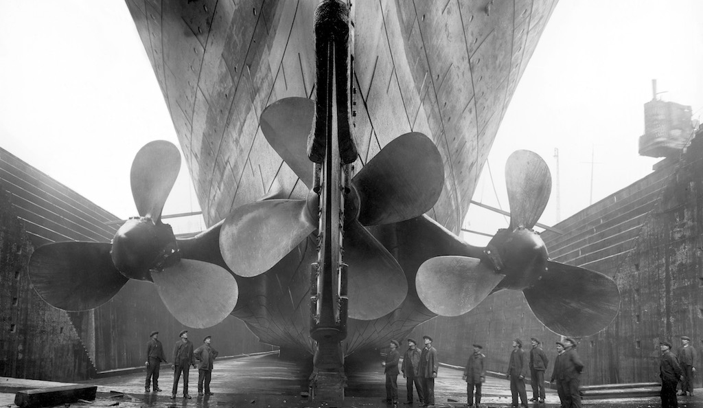 The Titanic in dry dock, c.1911, © Getty Images