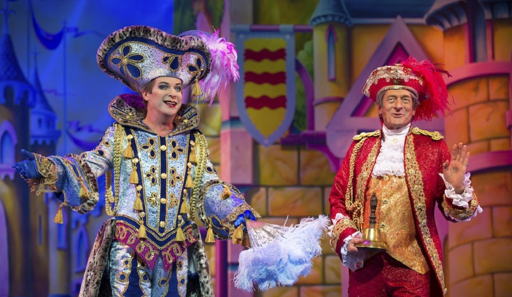 Julian Clary and Nigel Havers in last year's Palladium panto, 'Cinderella'