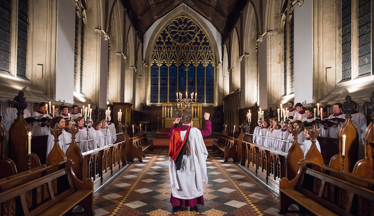 Merton College Choir, Oxford, sings at Temple Church on 12 December