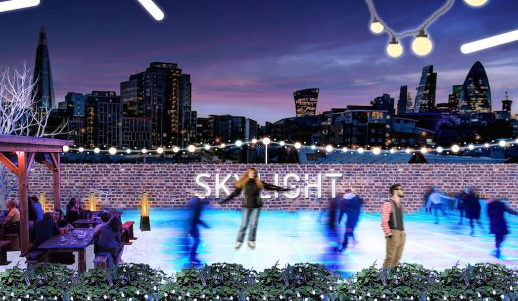 Rooftop ice rink, Skylight, Tobacco Dock
