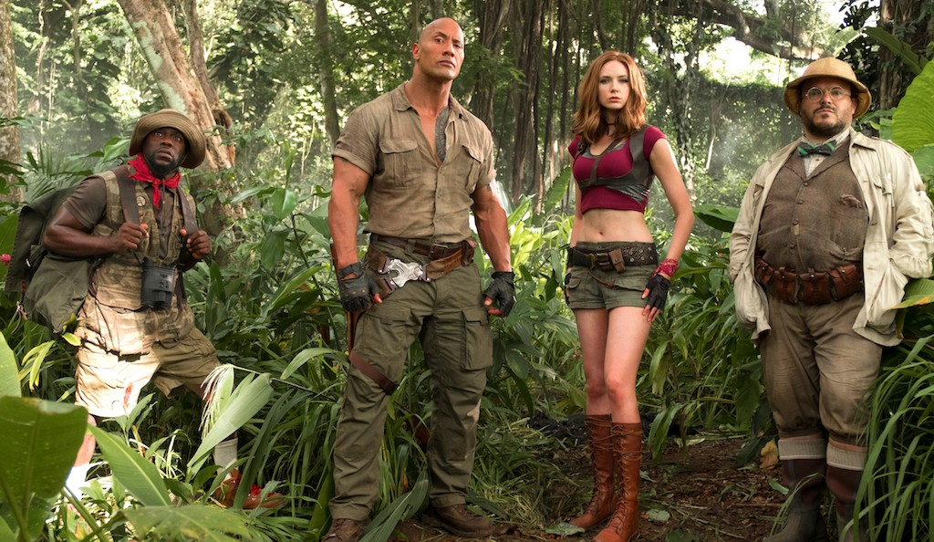 Dwayne Johnson and Jack Black star in Jumanji: Welcome to the Jungle