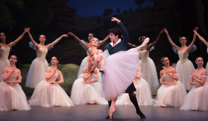 ENB, Jurgita Dronina & Isaac Hernandez in La Sylphide, photo Laurent Liotardo
