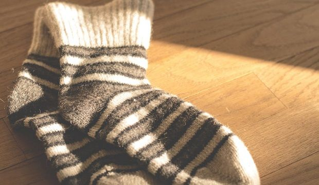 For the warm-up round: What's in the sock?