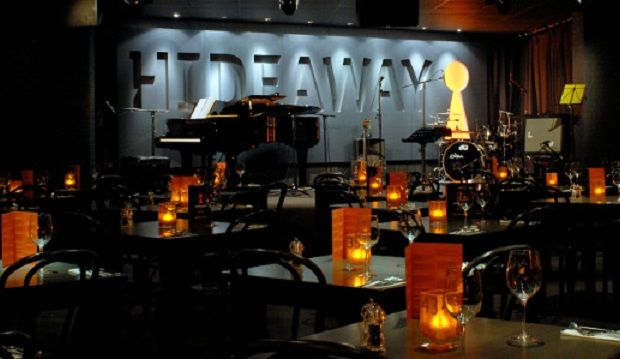 For jazz and jokes: Hideaway