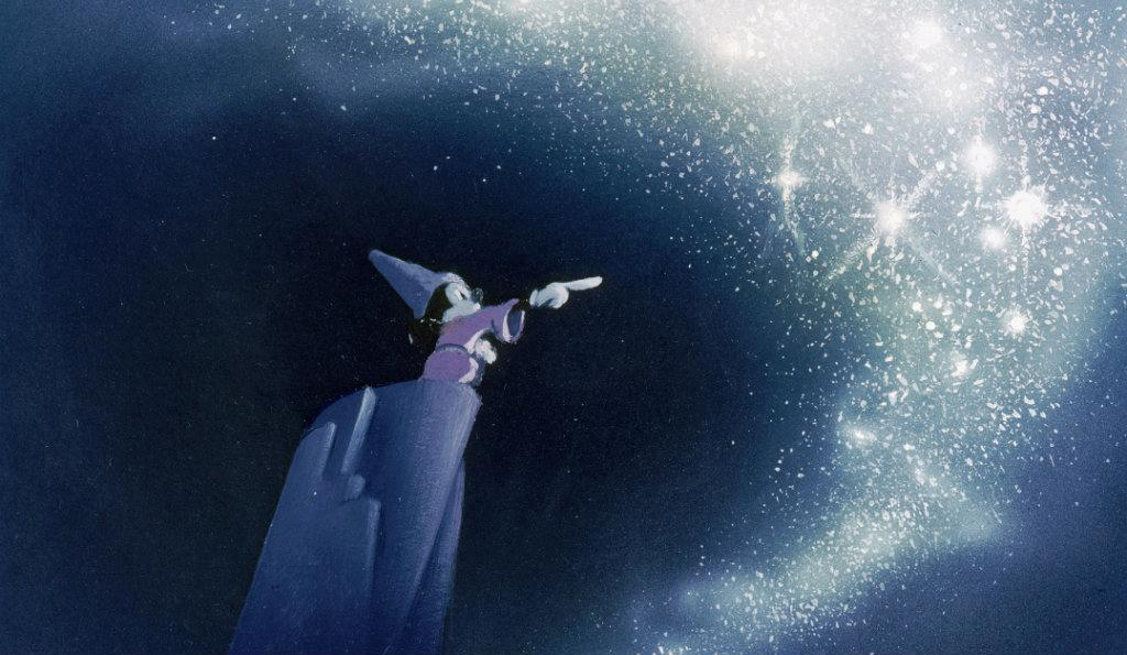 Artwork of Sorcerer's Apprentice Mickey from Walt Disney's Fantasia which provided the inspiration for The Vaults' Sounds and Sorcery. Image © Disney