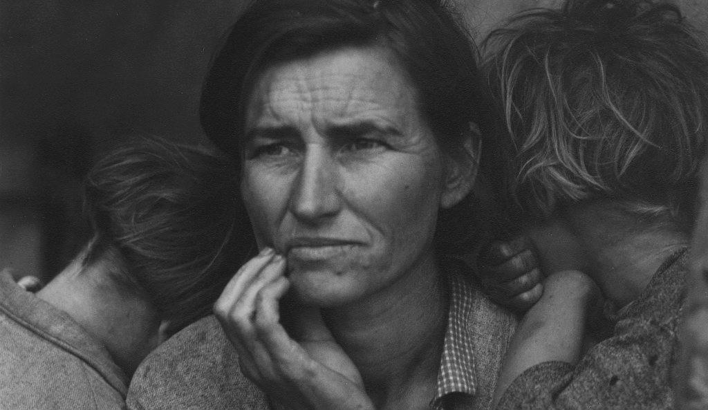 Dorothea  Lange, Detail: Migrant  Mother,  Nipomo,  California,  1936©  The  Dorothea  Lange  Collection,  the  Oakland  Museum  of  California