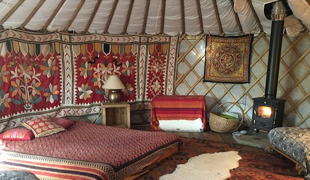 Best for exotic interiors: Yurt Yami, Cotswolds