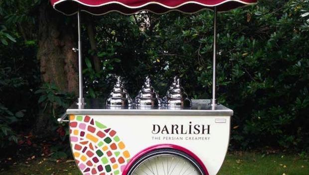 Darlish Persian ice-cream cart adds exoticism to parties