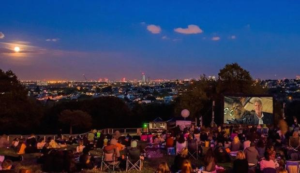 Watch a romantic film in the great outdoors