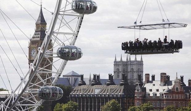 The 'don't look down' one: London in the sky