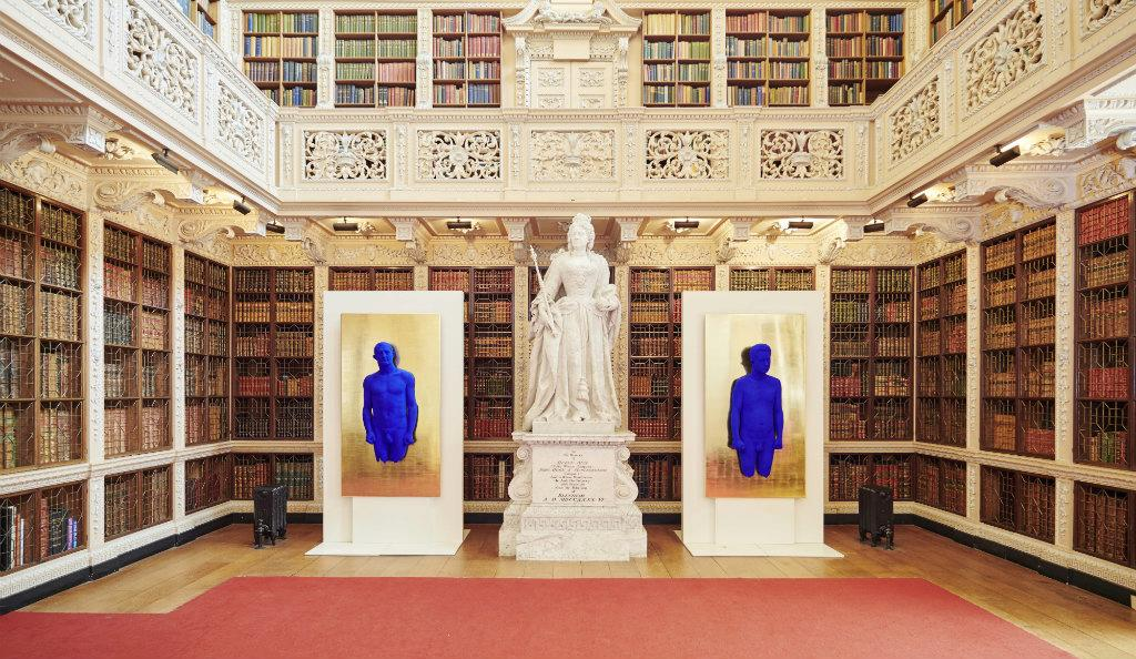 Yves Klein, 'Relief Portrait of Arman' and 'Relief Portrait of Claude Pascal' at Blenheim Palace ( The Estate of Yves Klein, ADAGP, Paris/DACS, London )