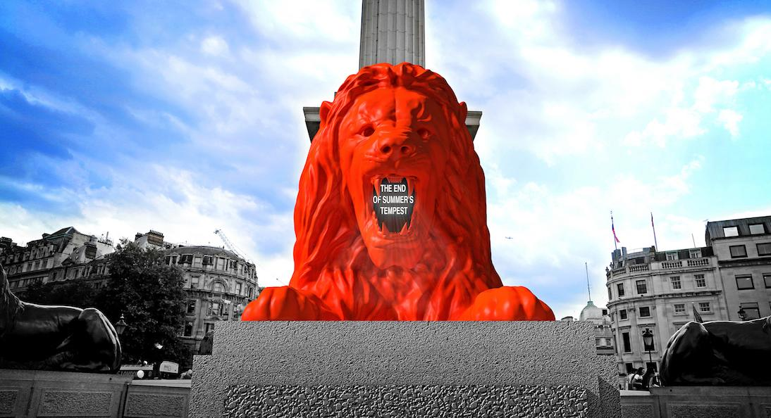 Render of Please Feed The Lions by Es Devlin, London Design Festival 2018