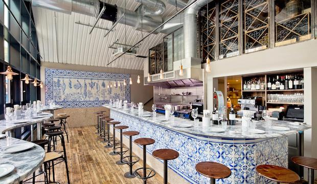 Bar Douro: evoking Lisbon complete with gorgeous tiles and those Belem style custard tarts