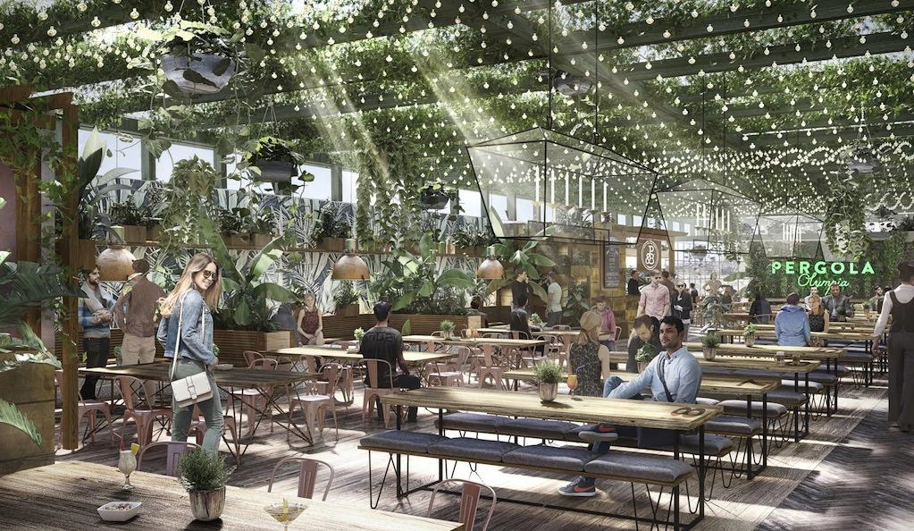 Drink in a rooftop greenhouse: Pergola Olympia