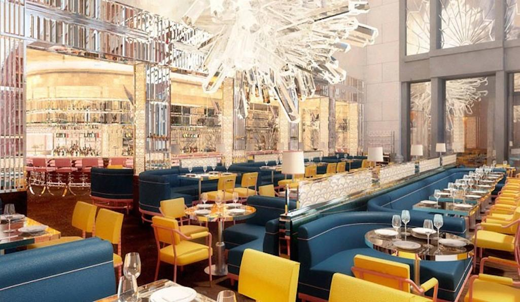 Damien Hirst sculpture as the centrepiece of Brasserie of Light, Selfridges