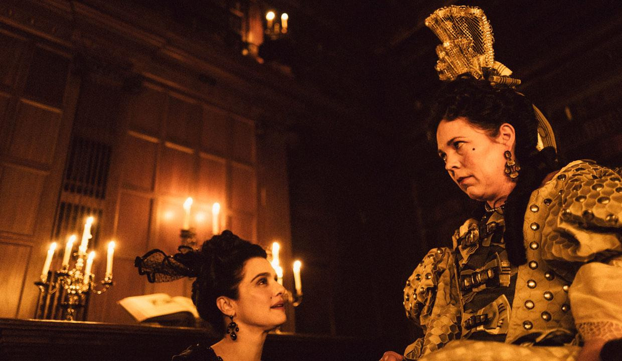 Olivia Colman and Rachel Weisz in The Favourite