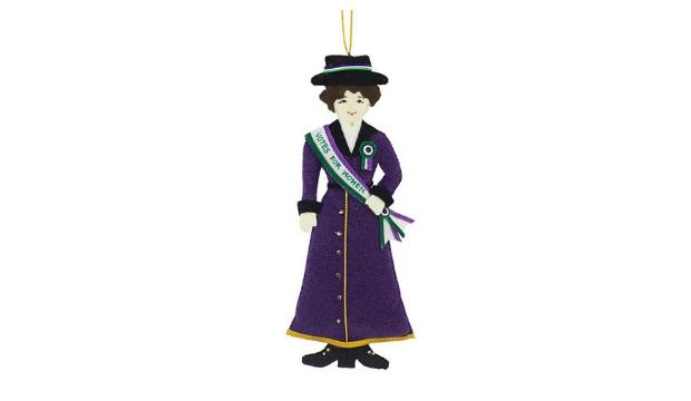 Girl Power: Suffragette Christmas Decoration