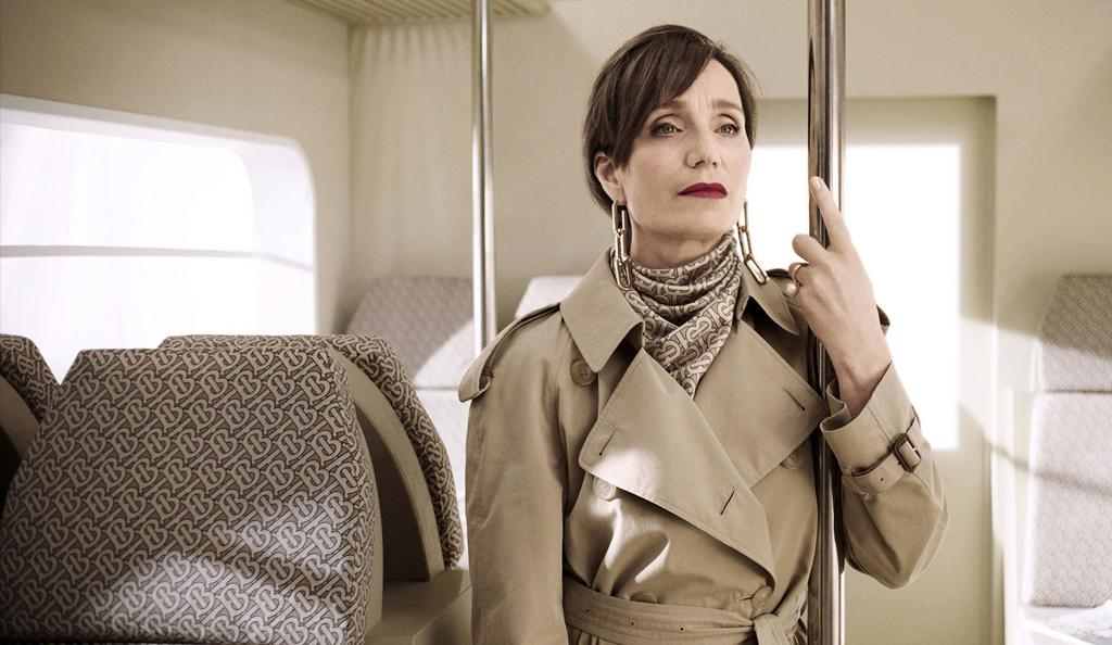 Kristin Scott Thomas in the 2018 Burberry Christmas campaign